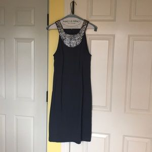 Slate grey party, cocktail, holiday dress
